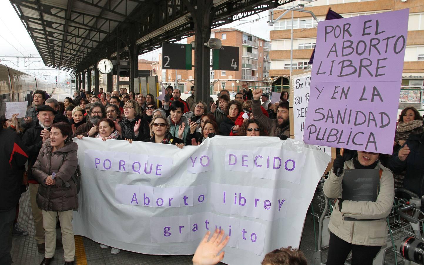 El 'Tren de la Libertad' pasa por Palencia y Valladolid