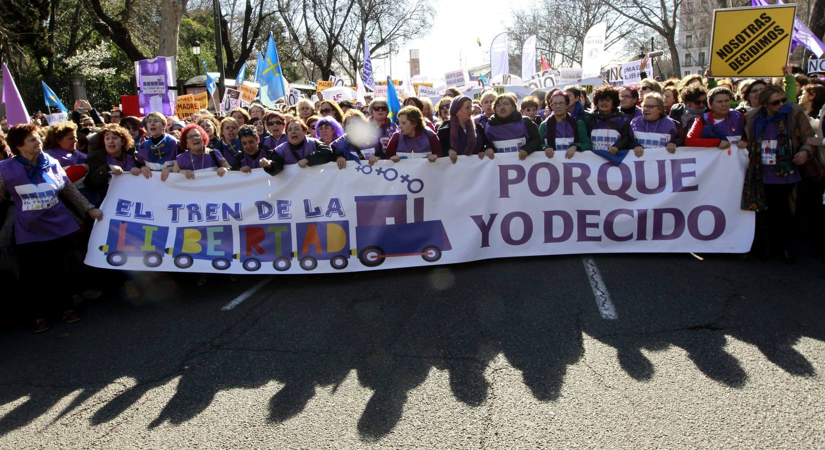 Una 'marea violeta' recorre Madrid