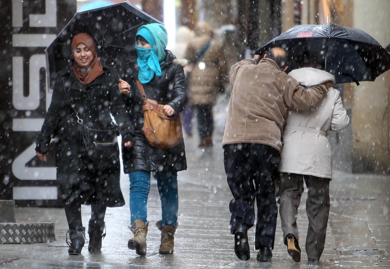 Frío y nieve en Segovia