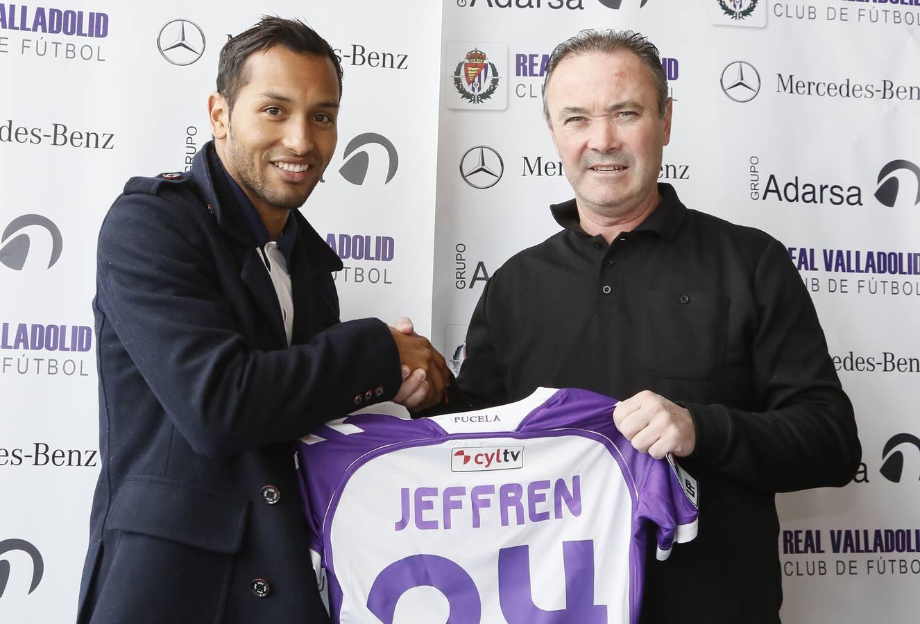 Presentación y primer entrenamiento de Jeffren con el Real Valladolid