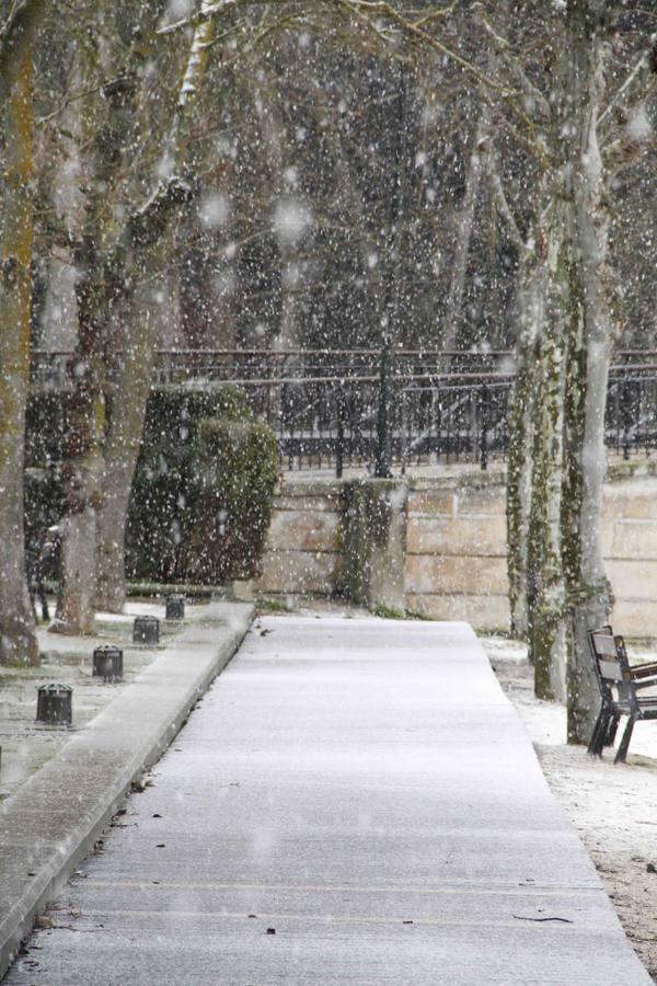 Nieve en Peñafiel. Valladolid