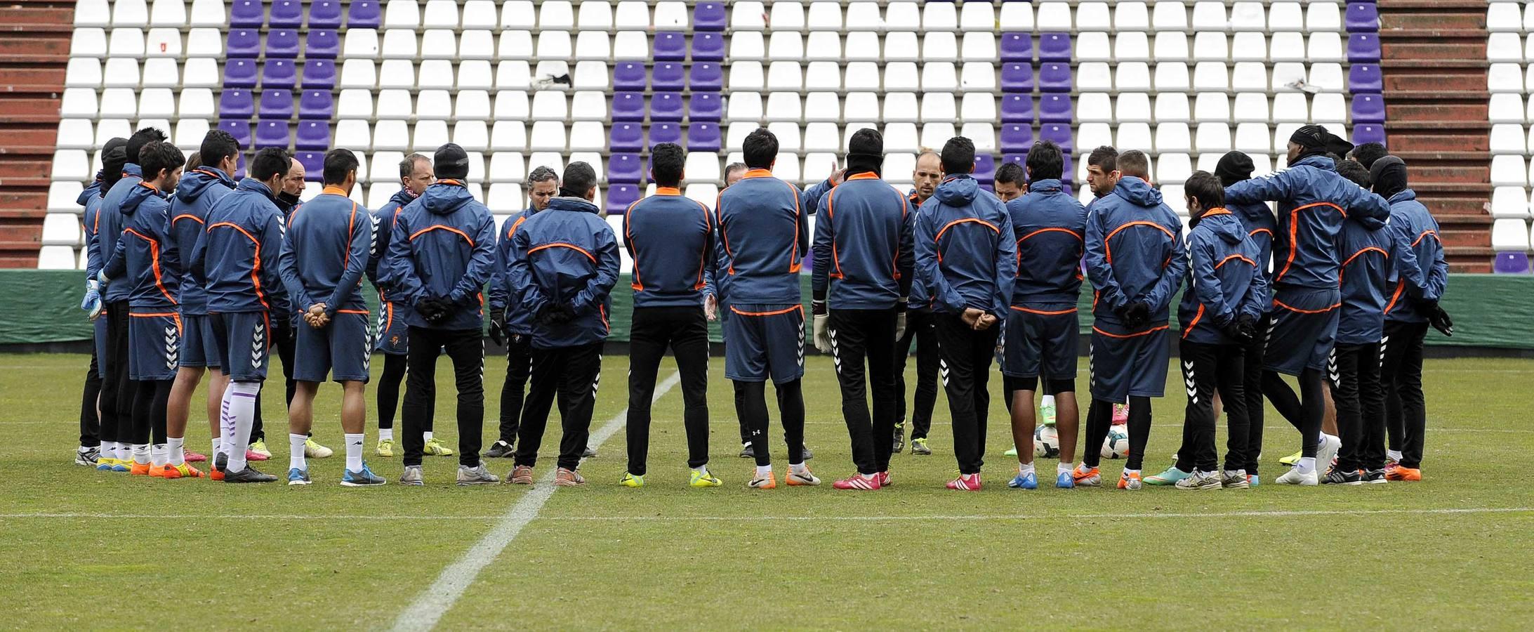 Entrenamiento del Real Valladolid 24.02.14