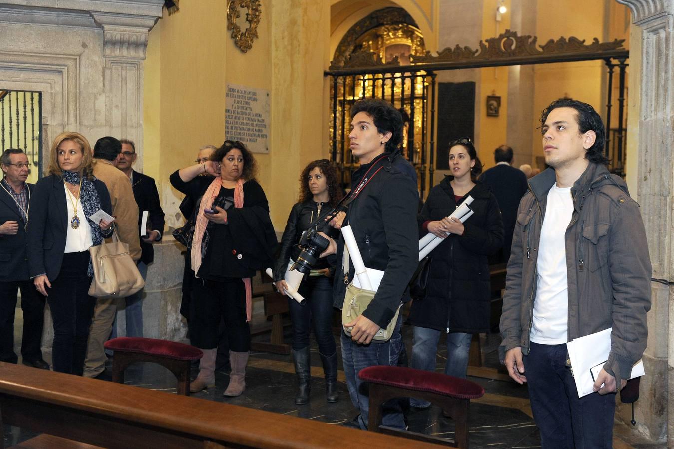 Actores de 'Los Miserables' visitan las iglesias de Santiago Apóstol y de la Virgen de Las Angustias de Valladolid