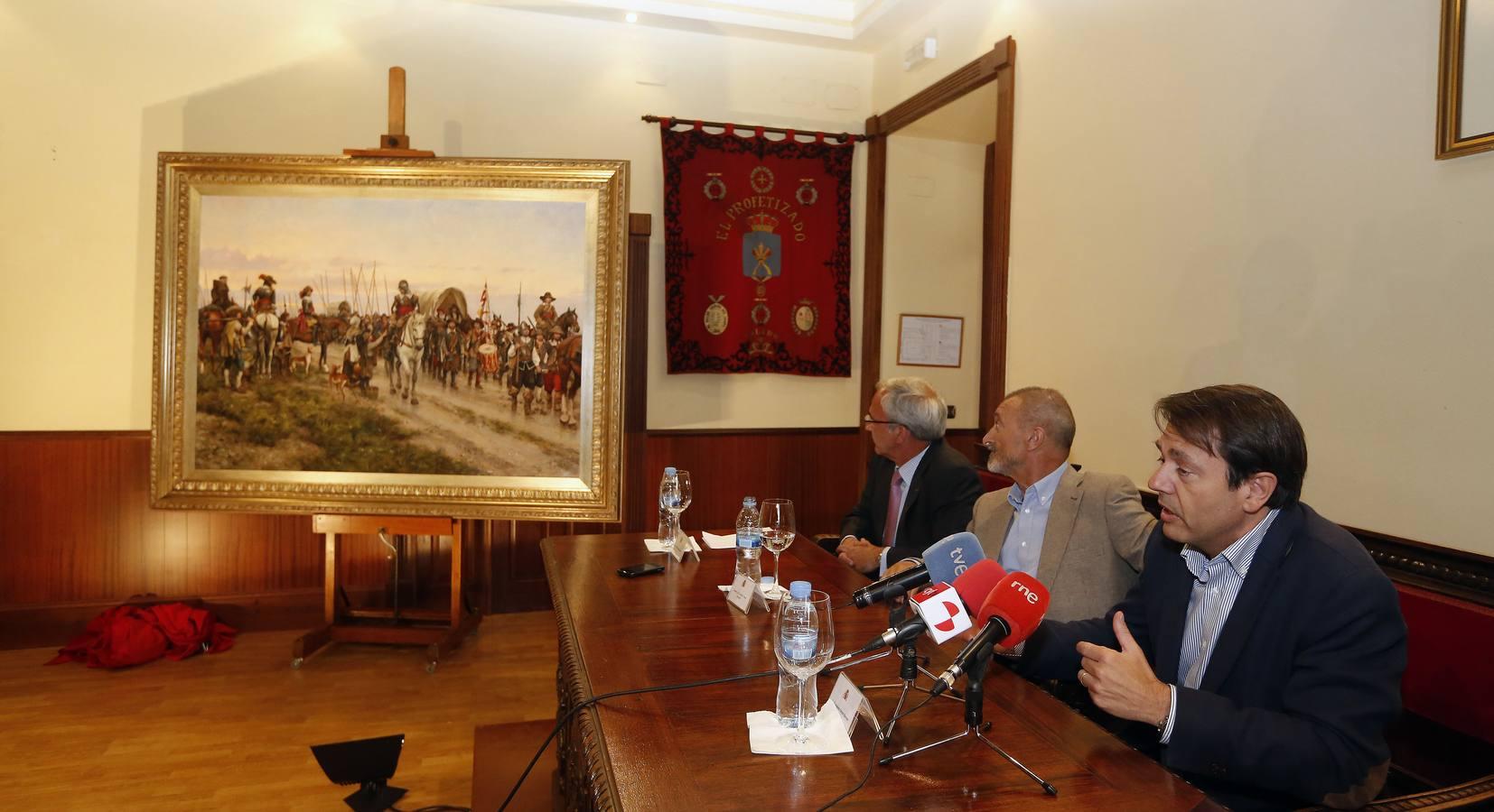 Presentación del cuadro 'El Camino Español' de Augusto Ferrer-Dalmau en el Palacio Real de Valladolid