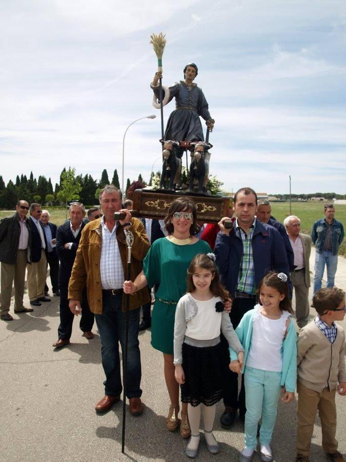 Procesión de San Isidro en Íscar. Valladolid