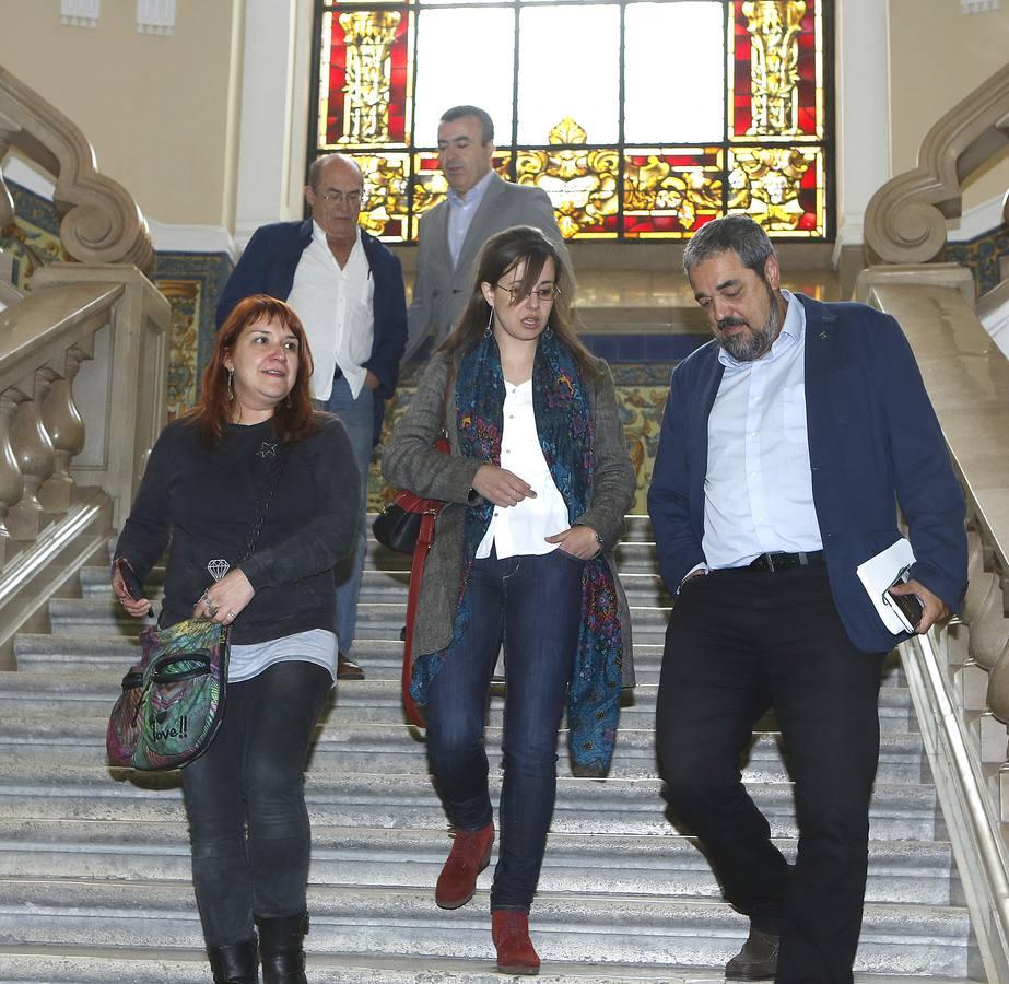Lorenzo Silva y Juan Madrid en el Aula de Cultura de El Norte de Castilla