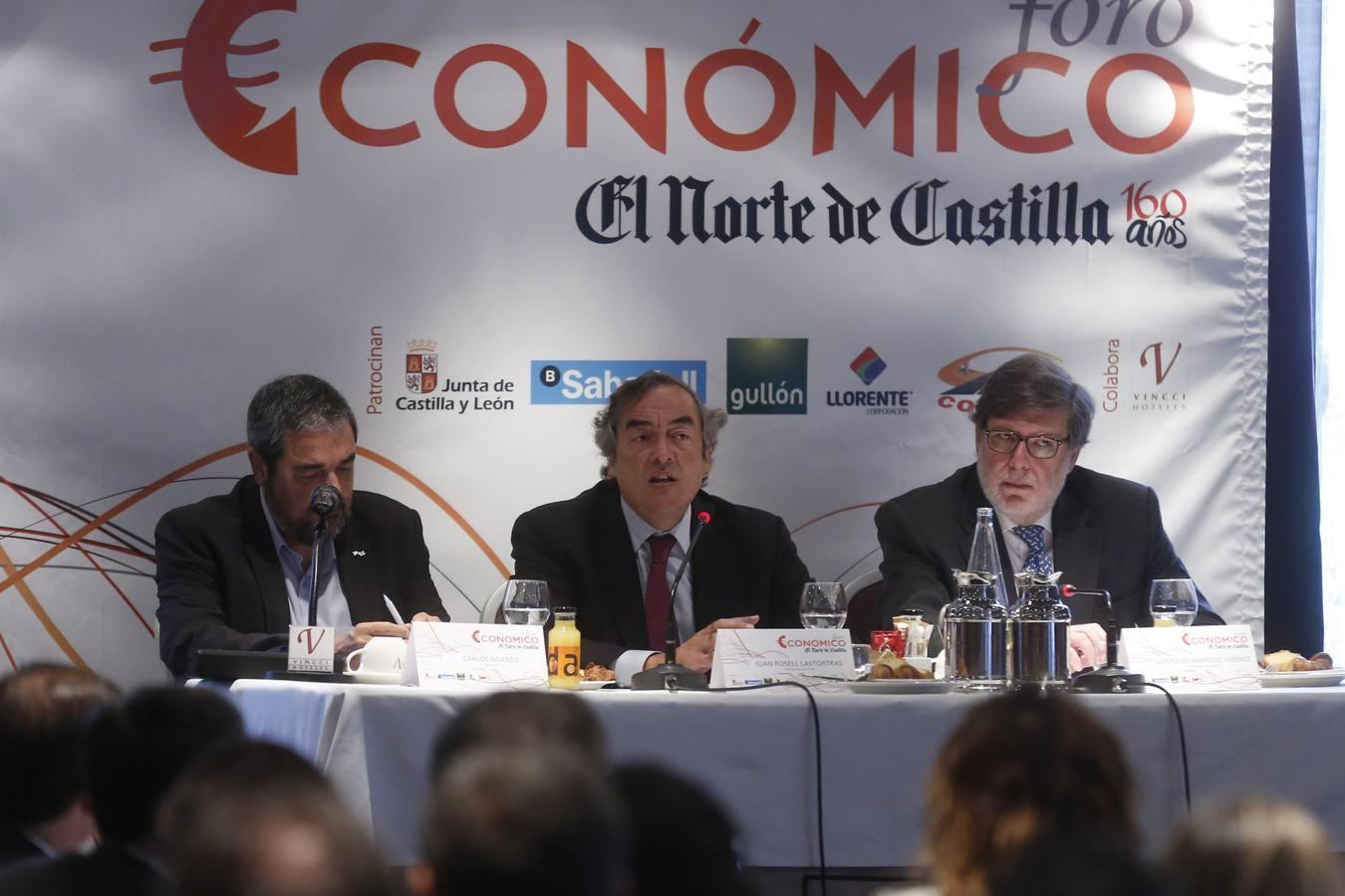 El presidente de la patronal CEOE, Juan Rosell en el Foro Económico de El Norte de Castilla