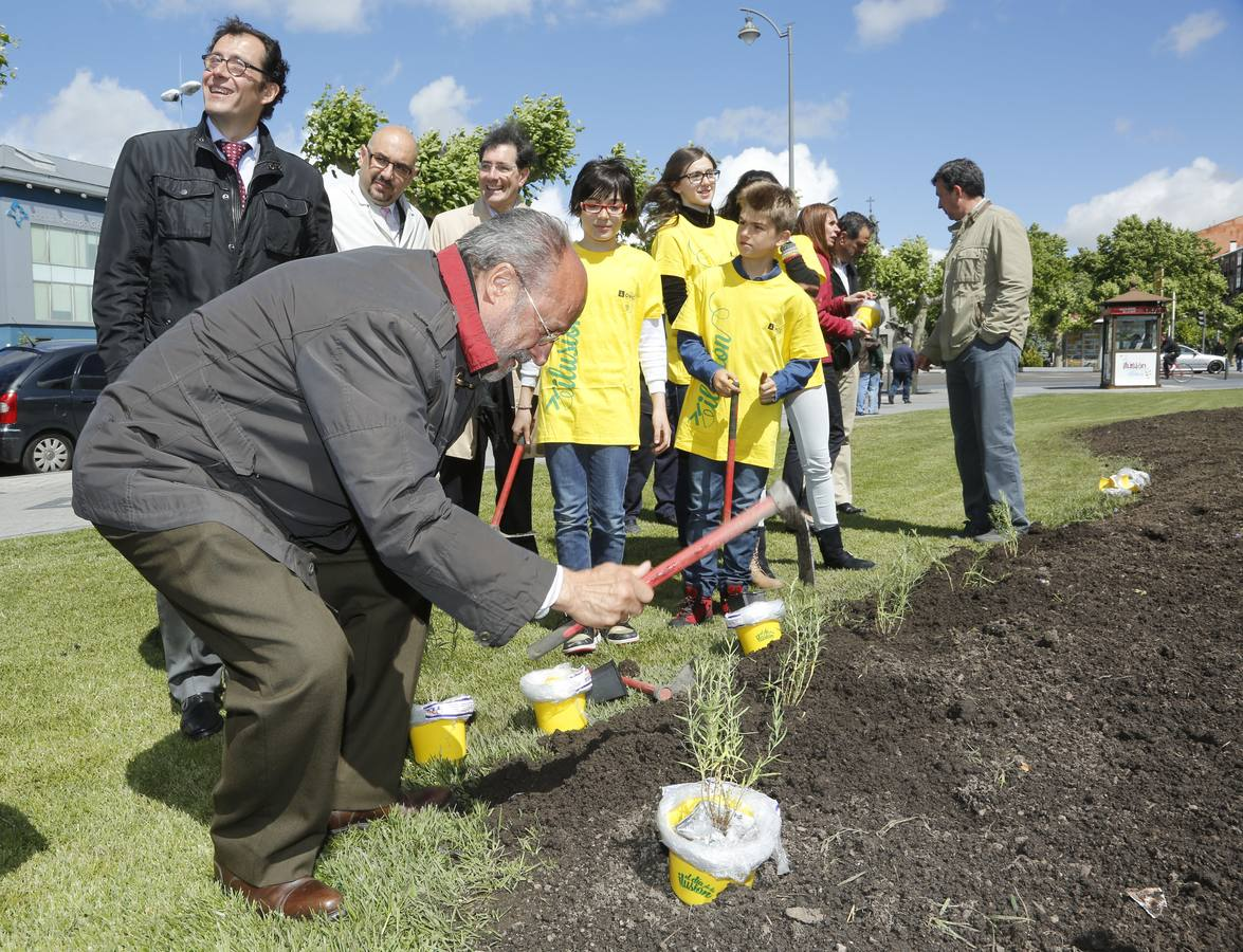 Escolares del colegio Cardenal Mendoza plantan semillas para conmemorar el 'Día de la Ilusión'